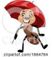 Ant With Umbrella