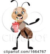 Ant Drinking Soda