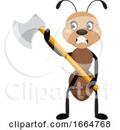 Ant Holding Big Axe
