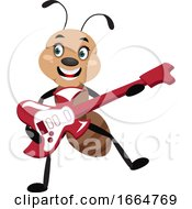 Ant Playing Guitar
