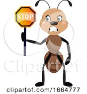 Ant With Stop Sign