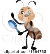 Ant With Magnifying Tool