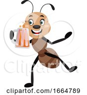 Ant Holding Beer