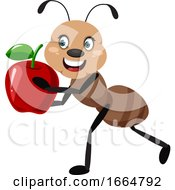Ant With Apple