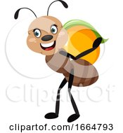 Ant With Peach