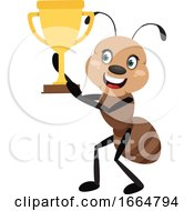 Ant Holding Trophy