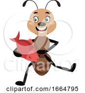 Ant Holding Fish