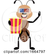 Poster, Art Print Of Ant With Popcorn