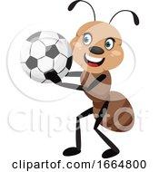 Ant Holding Football Ball