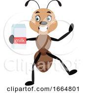 Ant Holding Milk
