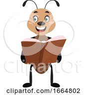 Ant Holding A Book