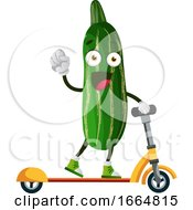 Cucumber On Scooter