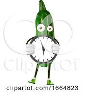 Cucumber Holding Clock