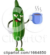 Poster, Art Print Of Cucumber Drinking Tea