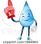 Water Drop With Winner Glove