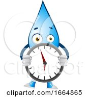 Water Drop Holding Clock