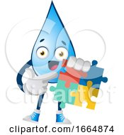 Poster, Art Print Of Water Drop With Puzzle