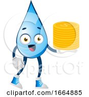 Water Drop With Coins