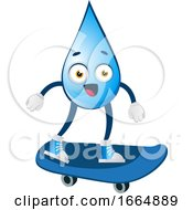 Poster, Art Print Of Water Drop On Skateboard