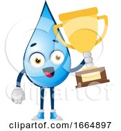 Water Drop With Trophy