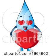 Poster, Art Print Of Water Drop With Big Heart