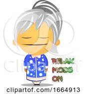 Poster, Art Print Of Grandma Feeling Relaxed