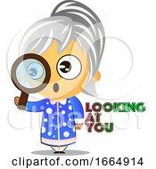 Poster, Art Print Of Grandma Looking At You