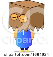 Poster, Art Print Of Old Man With Box On Head