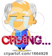Poster, Art Print Of Old Man Crying