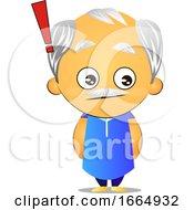 Poster, Art Print Of Old Man On Alert