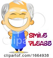 Poster, Art Print Of Old Man Smiling