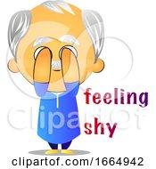 Poster, Art Print Of Old Man Feeling Shy