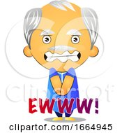 Poster, Art Print Of Disgusted Old Man