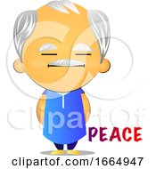 Poster, Art Print Of Old Man Chilling