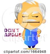 Poster, Art Print Of Old Man Arguing