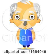 Poster, Art Print Of Old Man Is Shocked