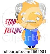 Poster, Art Print Of Old Man Feeling Like A Star