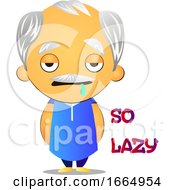 Poster, Art Print Of Lazy Old Man
