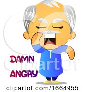 Poster, Art Print Of Angry Old Man