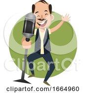 Man Singing On Microphone