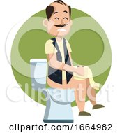 Man On A Toilet