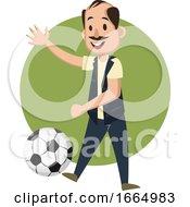 Man Playing Football by Morphart Creations
