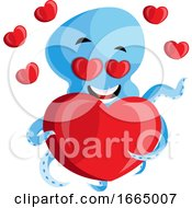 Poster, Art Print Of Octopus With Heart