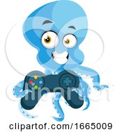 Octopus With Gamepad