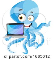 Octopus With Laptop