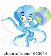 Octopus Holding Globe