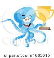 Octopus With Trophy