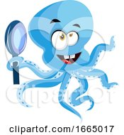 Octopus With Magnifying Glass