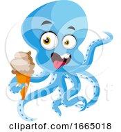 Octopus Eating Ice Cream