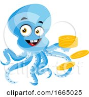 Octopus With Coins